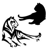 Lying tiger vector design Stock Photography