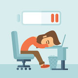 Lying tired employee. Stock Images