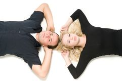 Lying together Royalty Free Stock Photos