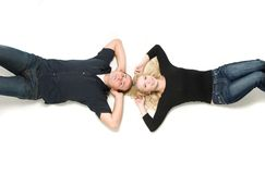 Lying together Royalty Free Stock Images