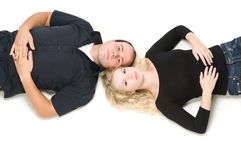 Lying together Stock Image
