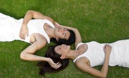 Lying Together Stock Image