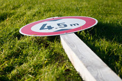 Lying Traffic Sign Royalty Free Stock Photo