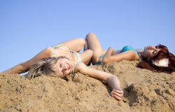 Lying under the sun Royalty Free Stock Images