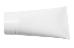 Lying White Tube w/Path Royalty Free Stock Images