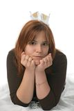 Lying woman Stock Photos