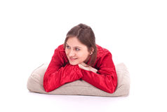 Lying young woman Stock Image