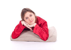 Lying young woman Royalty Free Stock Photography