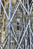 Lykhny 阿布哈兹 T的做法的教会的片段 免版税库存图片