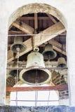 Lykhny Abjasia El campanario en la iglesia de la suposición Fotos de archivo