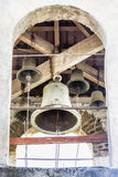 Lykhny. Abkhazia. The bell tower at the Church of the assumption Stock Photos