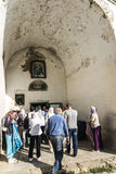 Lykhny. Abkhazia. The entrance to the Church of the assumption o Royalty Free Stock Photography
