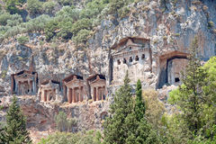 Lykian Rock Tombs, Dalyan, Turkey Stock Photography