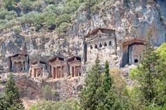 Lykian Rock Tombs, Dalyan, Turkey Stock Photography