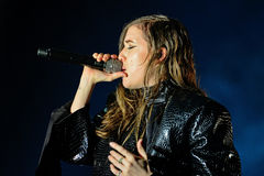 Lykke Li (singer and songwriter from Sweden) performs at Sonar Festival Royalty Free Stock Photos