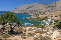 Lykos bay at Crete island Royalty Free Stock Images