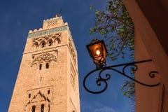 Lykta i marrakech Marocko Arkivbilder