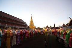Lykta med den thailändska pagoden arkivfoton