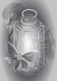 Lykta och stearinljus vektor illustrationer