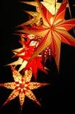 Lykta på julmarknad Royaltyfri Fotografi