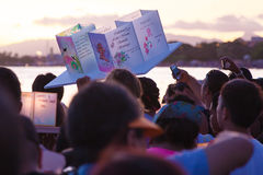 Lykta som svävar festival Royaltyfri Foto