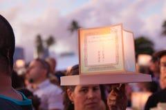 Lykta som svävar festival Royaltyfria Bilder