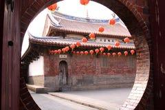 Lyktafestival i den Longshan templet i Taiwan Royaltyfri Bild