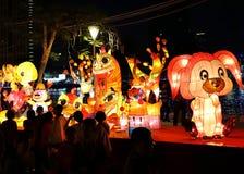 Lyktafestivalen 2018 i Taiwan Royaltyfri Bild