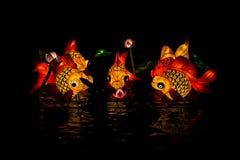 Lyktafisk på lyktafestivalen Arkivbild