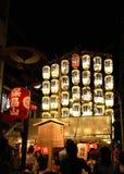 Lyktor av den Gion festivalen, Kyoto Japan i Juli fotografering för bildbyråer
