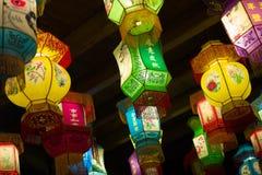 Lyktor för lyktafestival Arkivfoto