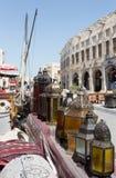 Lyktor i Doha souq Arkivbilder
