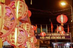 Lyktor i Mitt--höst festival i Saigon, Vietnam arkivfoto