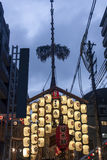 Lyktor på Gion Festival i Kyoto Royaltyfri Fotografi