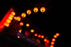 Lyktor under berömmar för nytt år i Kina Arkivfoton