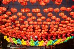 Lyktorna för traditionell kines arkivbild