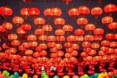 Lyktorna för traditionell kines arkivfoto