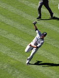 Lyle Overbay stands off balance after making a cat Royalty Free Stock Photography