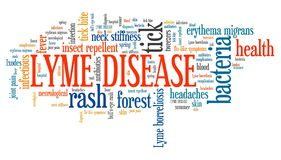 Lyme disease. Tick borne infectious sickness. Health problems word cloud Royalty Free Stock Photo
