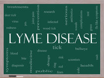 Lyme Disease Word Cloud Concept on a Blackboard Stock Photos