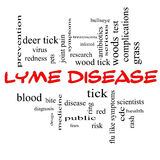 Lyme Disease Word Cloud Concept in red caps Royalty Free Stock Images