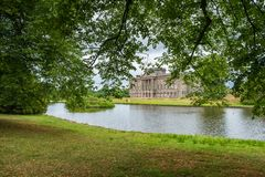 Free Lyme Hall And Its Pond Inside Lyme Park In Cheshire, England. Stock Image - 131234931