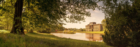 Lyme hall panorama. A panoramic shot of Lyme Hall, Cheshire, UK Royalty Free Stock Images