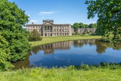 Lyme House at Lyme Park Cheshire. In spring sunshine stock photography
