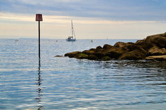 Lyme Regis On An August Morning Stock Images