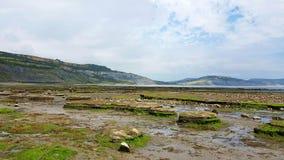 Lyme Regis Bay Costa di Dorset, Regno Unito Fotografie Stock Libere da Diritti