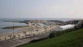 Lyme Regis beach Dorset England UK in Lyme Bay stock video footage