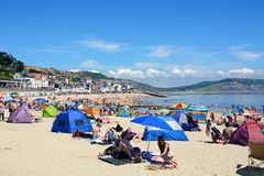 Lyme Regis beach. Stock Photography