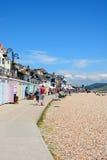 Lyme Regis beach and promenade. Royalty Free Stock Photos
