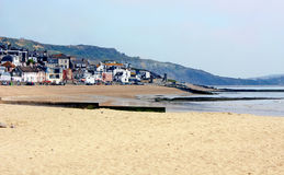 Lyme Regis Beachscape Royalty Free Stock Image